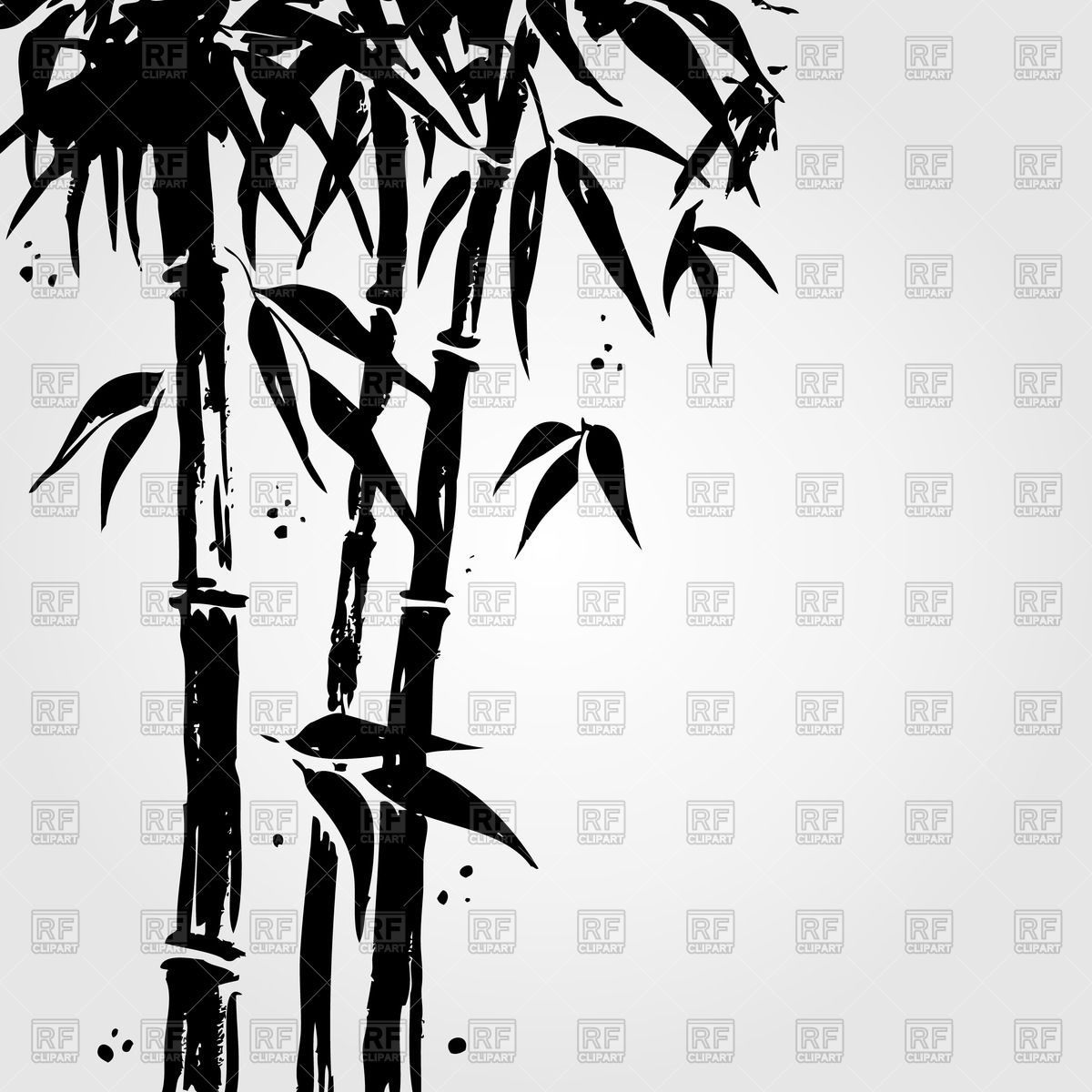 1200x1200 Bamboo In Chinese Style Vector Image Vector Artwork Of Plants