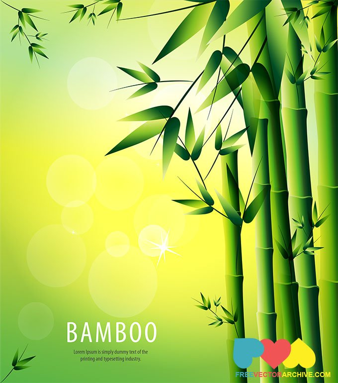 680x770 Free Bamboo Vector Background Illustration Psd Files, Vectors