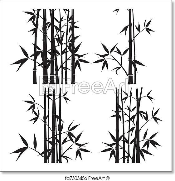 561x581 Free Art Print Of Bamboo, Vector. Bamboo, Vector Illustration