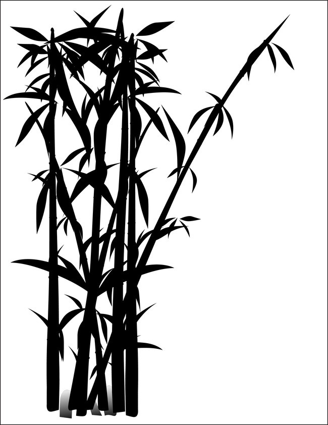 650x842 Ink Bamboo Vector Background Material, Ink, Bamboo, Vector
