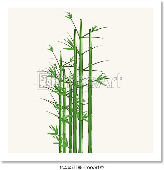 561x581 Free Art Print Of Bamboo Vector. Bamboo Tree Vector Illustration