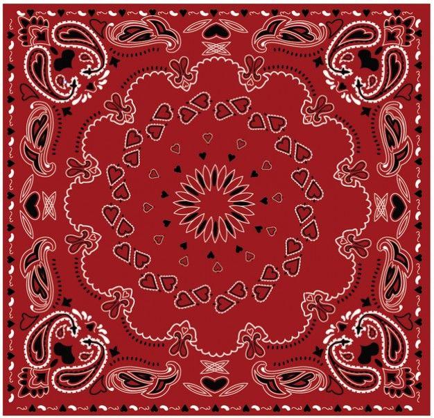 626x602 Paisley Bandana Vermelha Vector New Colors