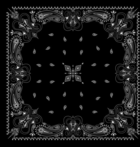 478x500 Black With White Bandana Patterns Design Vector Free Vector In