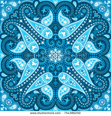450x470 Collection Of Free Curving Clipart Bandana Pattern. Download On
