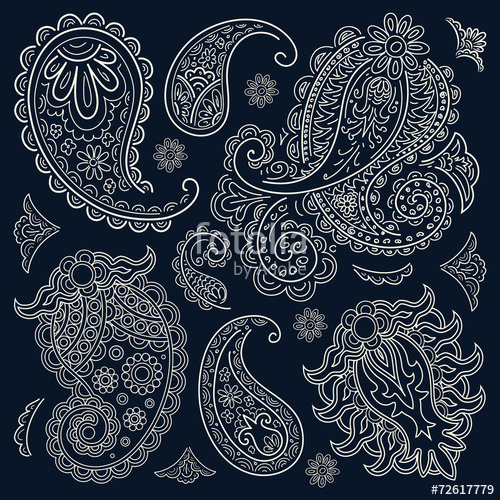 500x500 Paisley Bandana Stock Image And Royalty Free Vector Files On