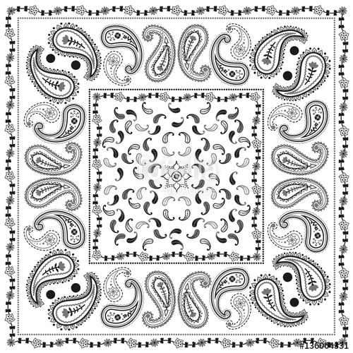 500x500 White Bandana Pattern Stock Image And Royalty Free Vector Files