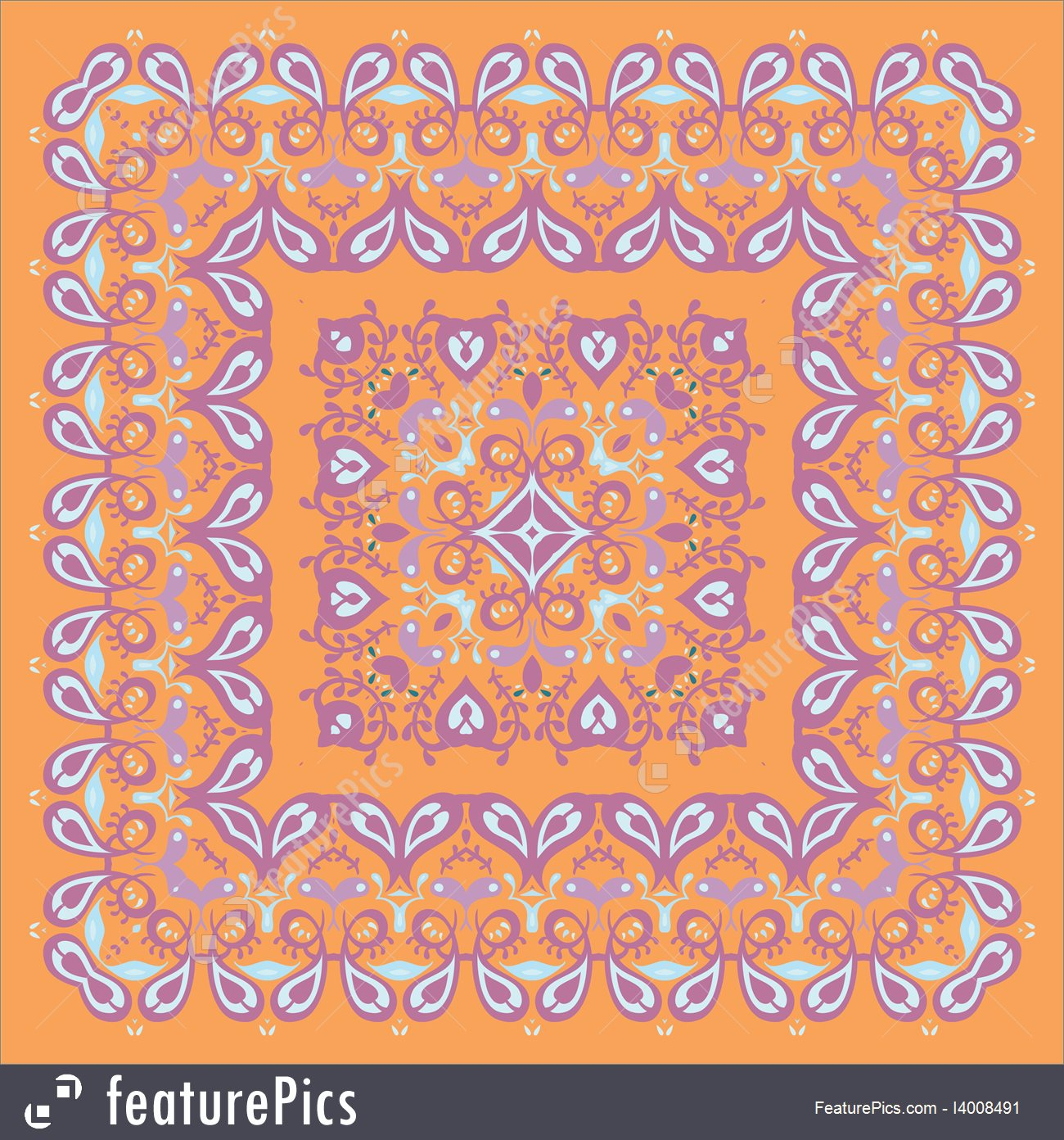 1300x1392 Bandana Pattern Colorful