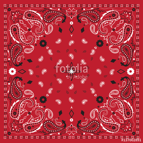 500x500 Red Bandana Print Stock Image And Royalty Free Vector Files On