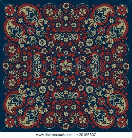 450x470 Bandana Print Fabric University Of Collegiate Bandana Print Fabric
