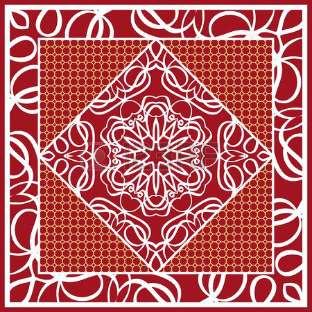 450x450 Flower Pattern Carpet Design Of Scarf With Mandala Flower Pattern