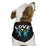 190x190 Storyt Cute Couple And Heart Vector Art Dog Bandana