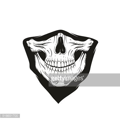 416x416 Bandana With A Skull, Vector Illustration Premium Clipart