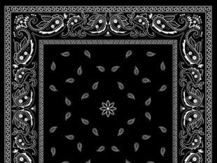 310x233 Black With White Bandana Patterns Design Vector Free Vectors