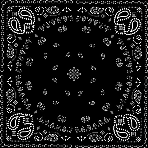 476x476 Black With White Bandana Patterns Design Vector Free Vector In