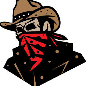 282x282 Cowboy With Bandana Free Vector Download 204435 Cannypic