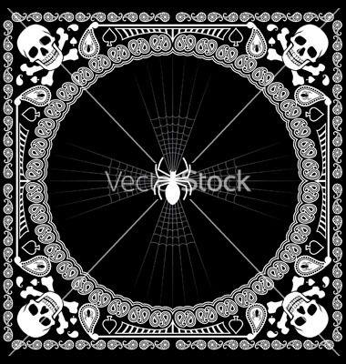 380x400 Free Bandana Pattern Bandana Pattern Skull And Spider Vector Art
