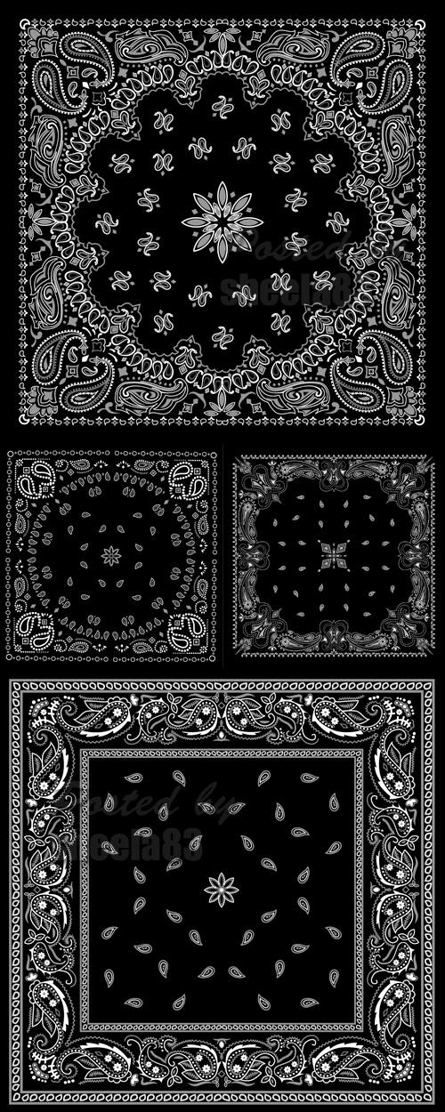 500x1250 Bandana Patterns Vector Free Download Ae Project Vector Stock
