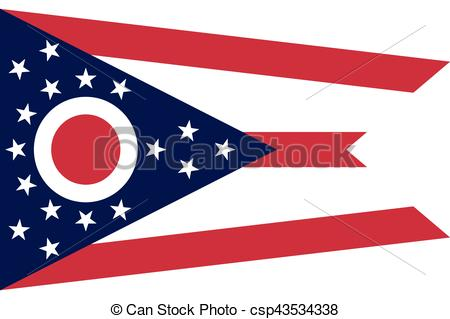 450x319 Usa., Formato, Bandera, Estado, Vector, Ohio.