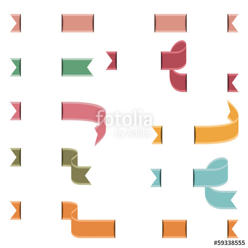 500x500 Conjunto De Banderines En Colores Vintage Stock Image And Royalty