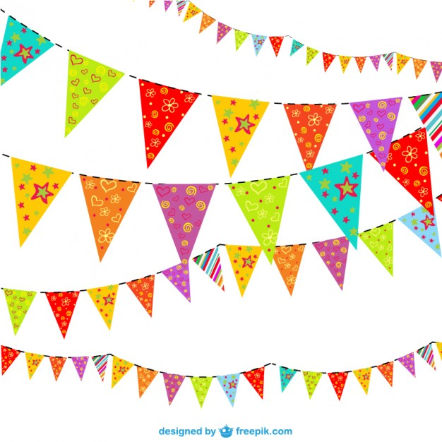 626x626 Floral Party Garlands Vector Free Download