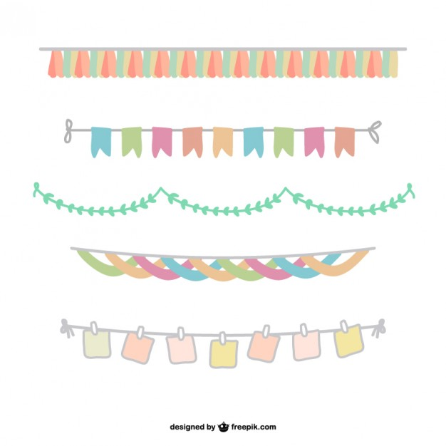 626x626 Pack De Banderines Coloridos Descargar Vectores Gratis
