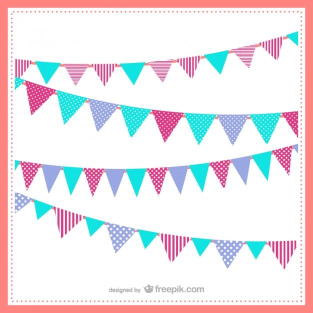 626x626 Banderines De Colores Descargar Vectores Gratis