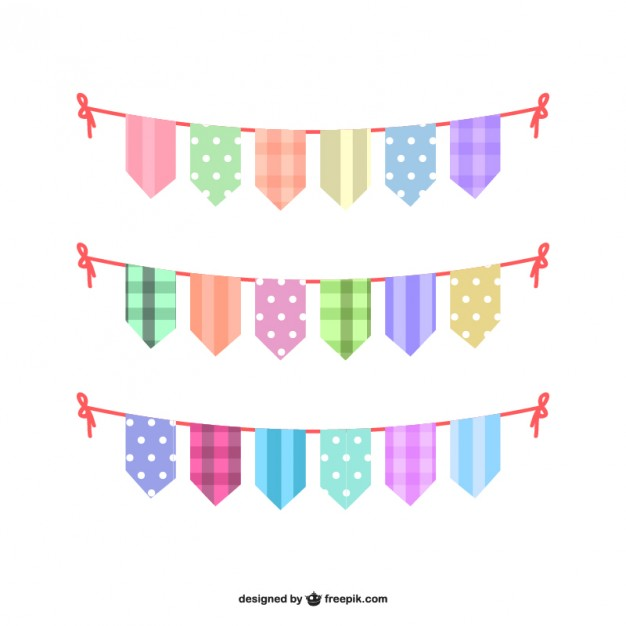 626x626 Colorful Bunting Set Vector Free Download