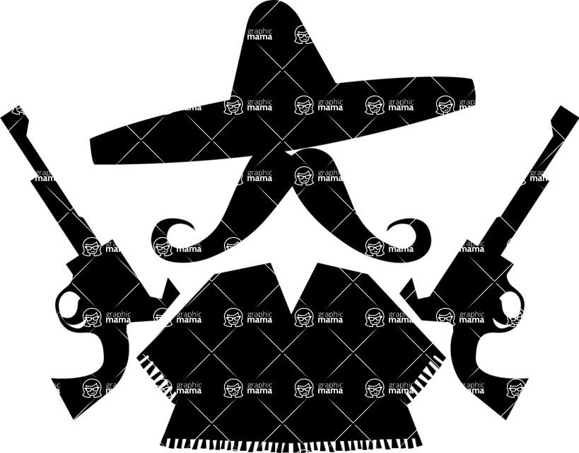 819x640 Mexican Bandit Vector Graphicmama Graphicmama