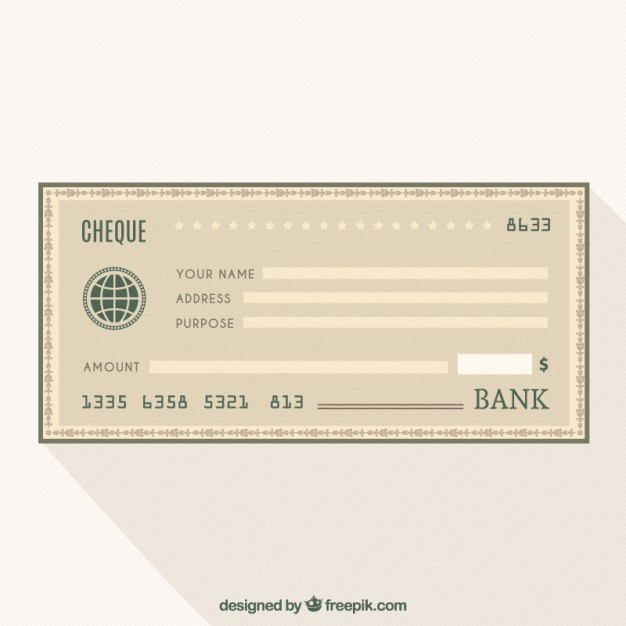 626x626 Cheque Bank Vector Free Download