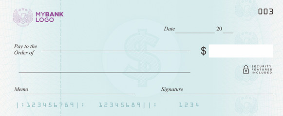581x240 Dollar Bank Cheque Vector Stock Image And Royalty Free Vector