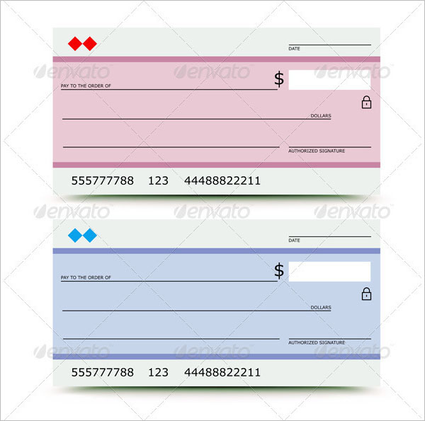 600x595 Cheque Templates Free Word, Excel, Psd, Pdf Formats