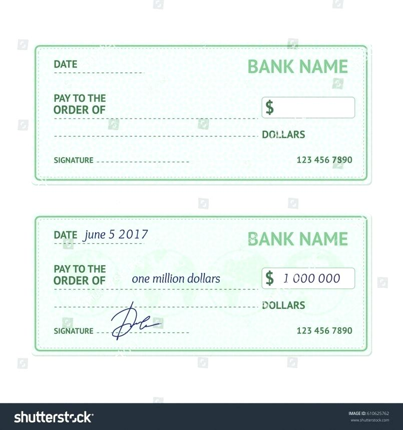 805x859 Stock Vector Of Template In The Blank Form A Bank Check Sheet