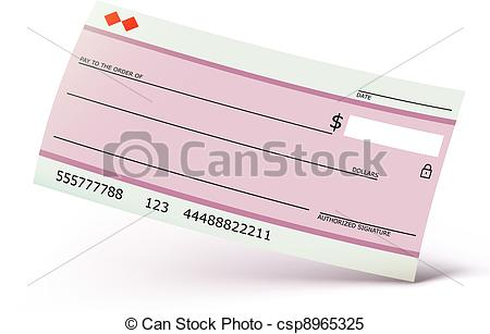 450x307 Vector Illustration Of Bank Check Isolated On The White Background.