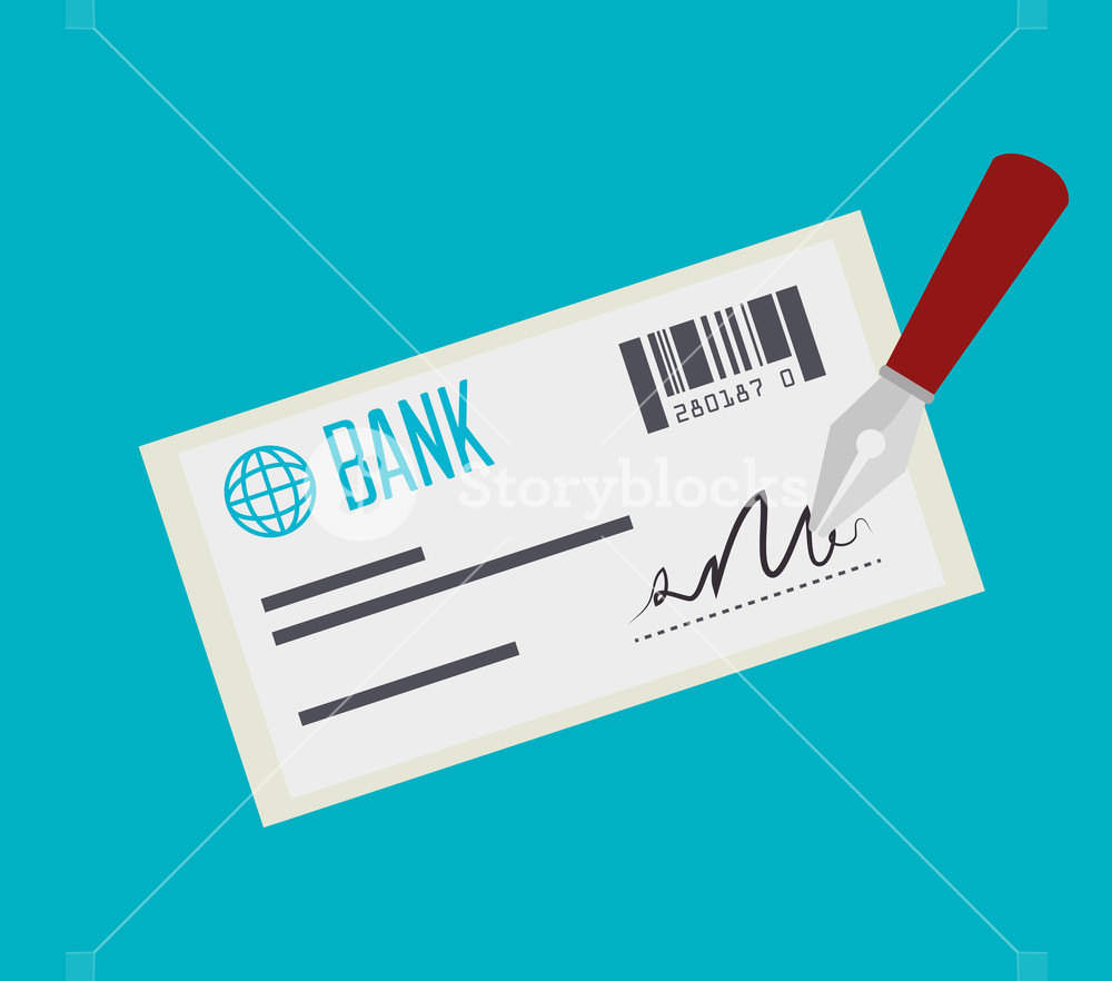 1000x882 Bank Check Payment Isolated Vector Illustration Eps 10 Royalty