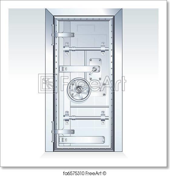 561x581 Free Art Print Of Bank Vault. Bank Vault Door Scalable Vector
