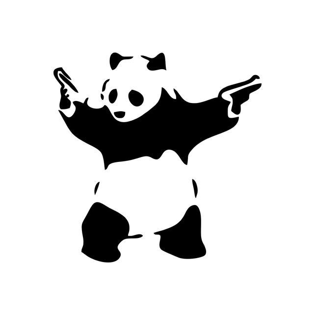 642x642 Banksy Panda With Gun Clipart Panda With Gun Vector Digital Etsy
