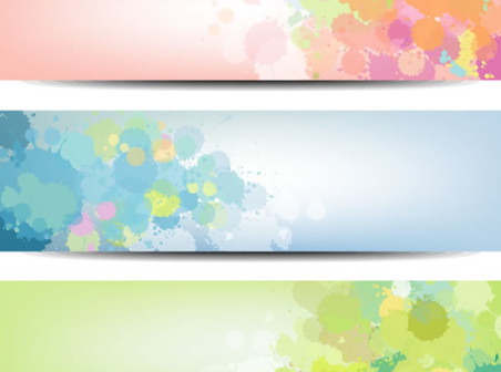 452x336 Elegant Ink Flowers Banner Vector Free Vector Background Download