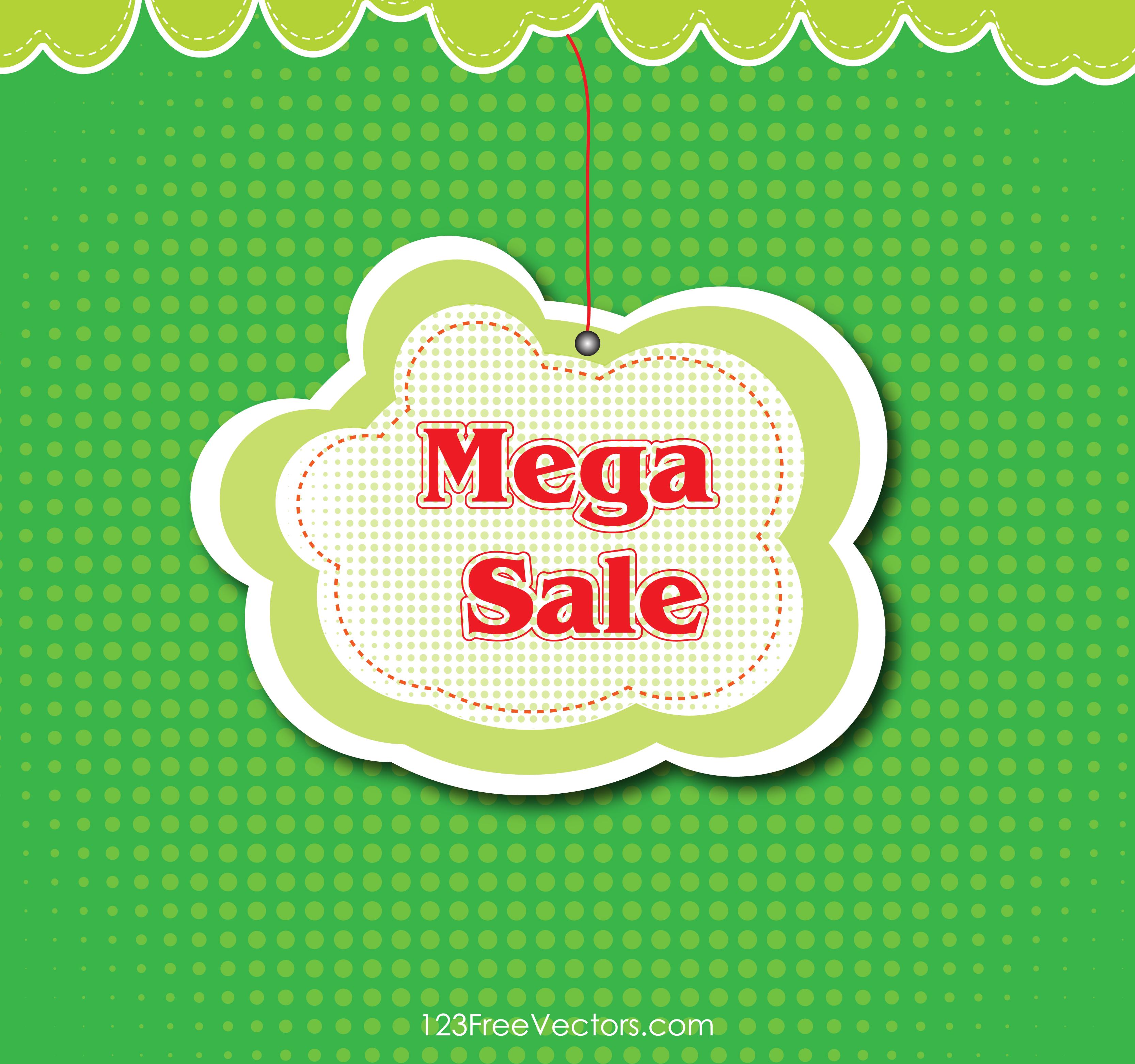 3333x3125 Free Mega Sale Banner Background Vector 123freevectors