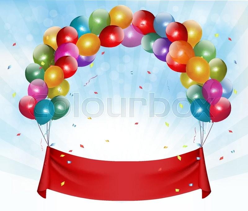 800x680 Happy Birthday Banner Background. Vector. Stock Vector Colourbox