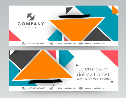 521x405 Company Banners Modern Design Vector 02 Free Download