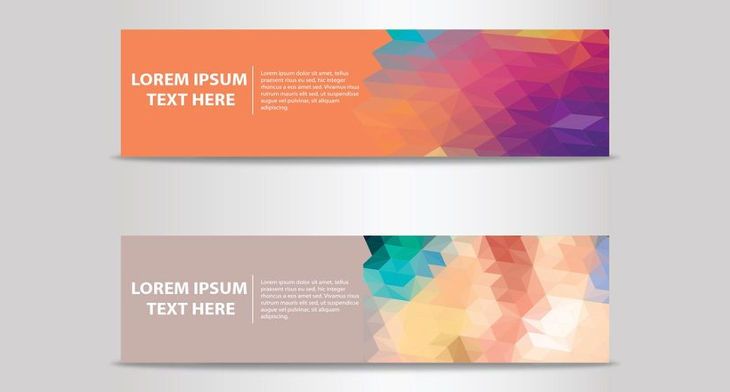 730x392 Abstract Banner Vectors