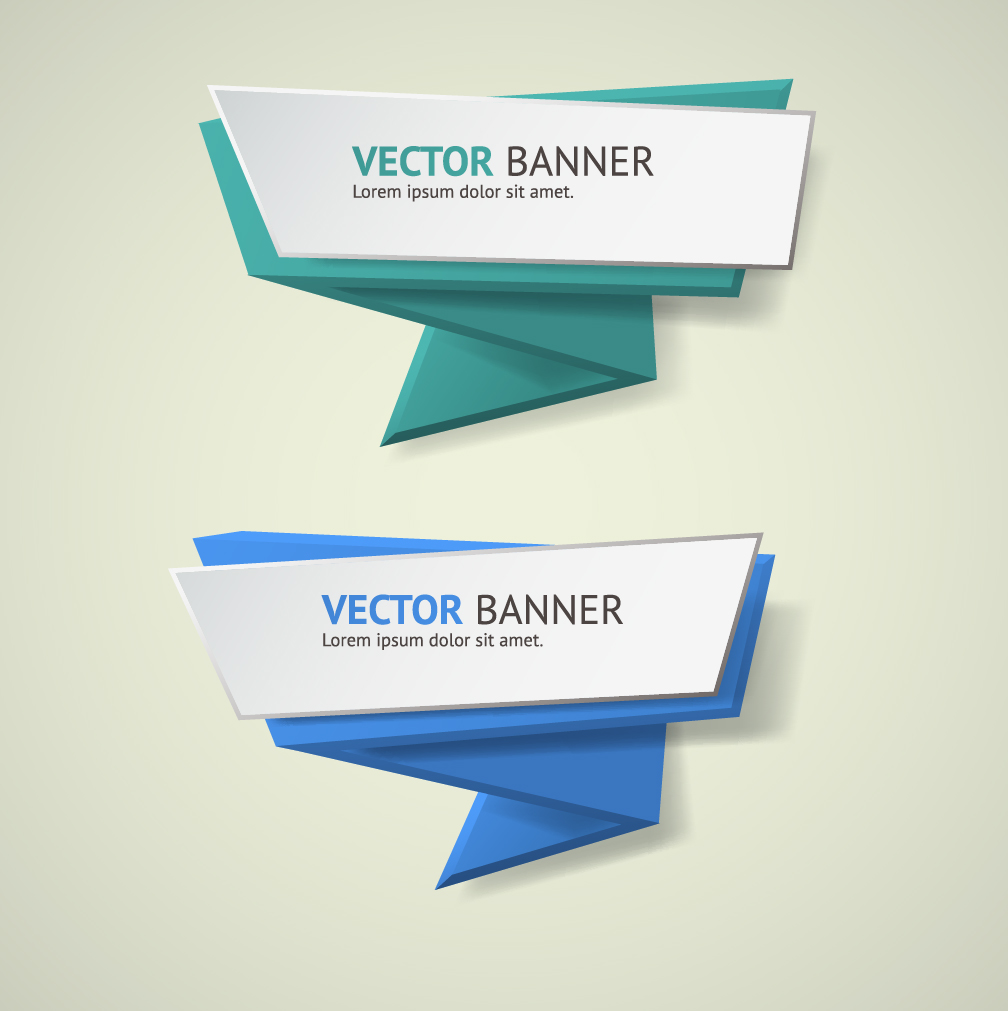 1008x1011 Origami Business Banners Design 06 Free Download