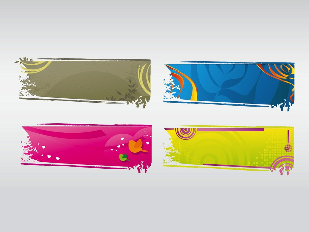1024x769 Vector Banner Set Vector Art Amp Graphics