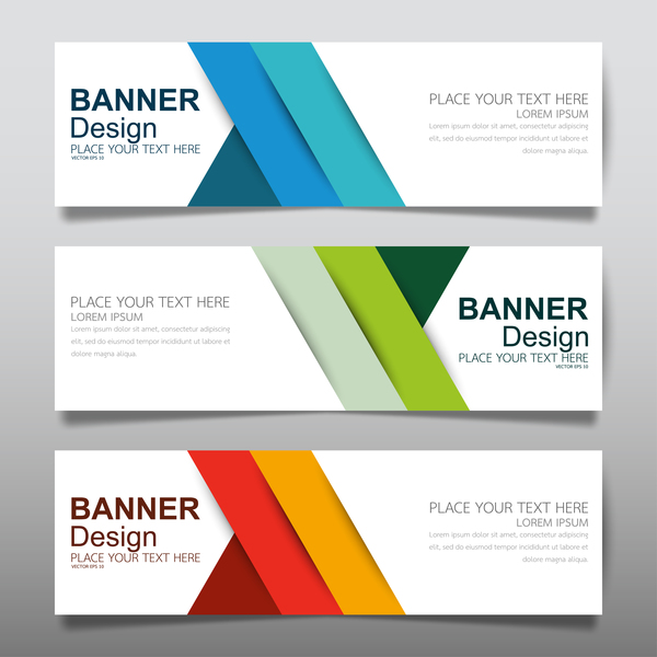 600x600 Vector Set Of Modern Banners Template Design 18 Free Download