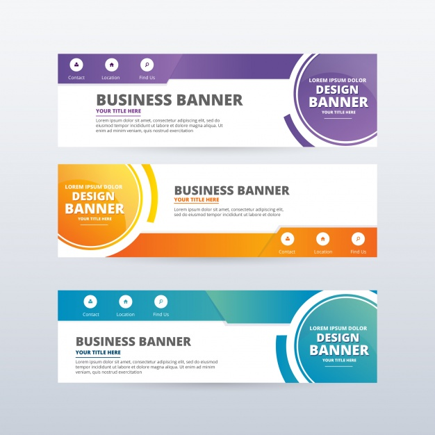 626x626 Banner Designs Abstract Banners Collection Vector Free Download