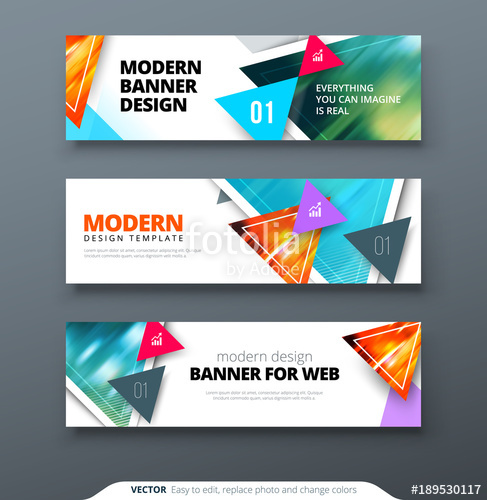 487x500 Banner Design Vector Abstract Geometric Design Banner Web Template