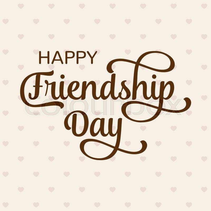 800x800 Happy Friendship Day Greeting Card. For Poster, Flyer, Banner For