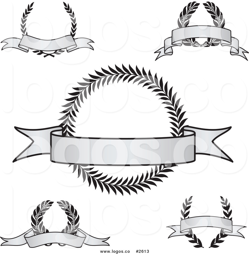 1024x1044 Royalty Free Vintage Grayscale Award Crests And Blank Banner Logos