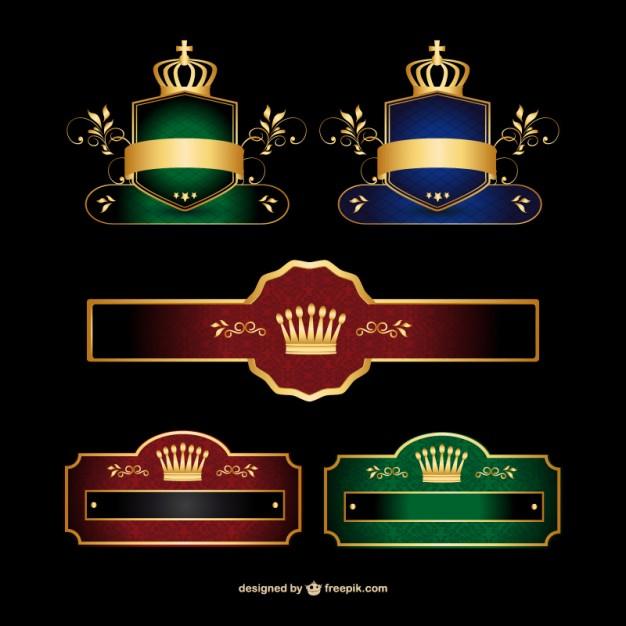 626x626 Stylish Banner Set Logo Vector Free Download
