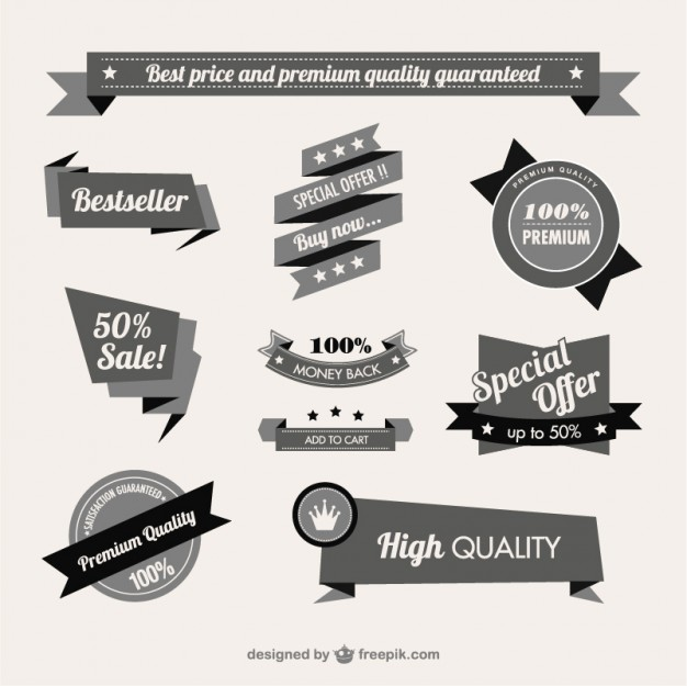 626x625 Vintage Quality Guaranteed Banner Vector Free Download
